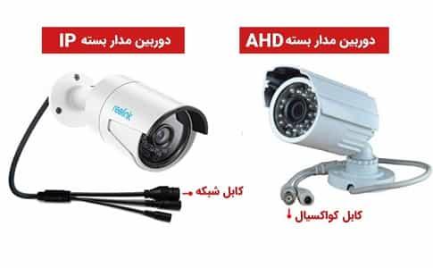بررسی و مقایسه دوربین AHD و IP