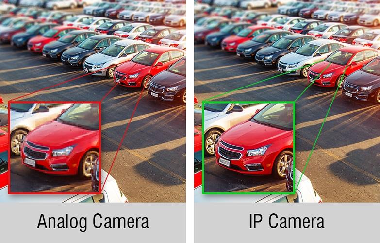 مقایسه دوربین AHD و IP