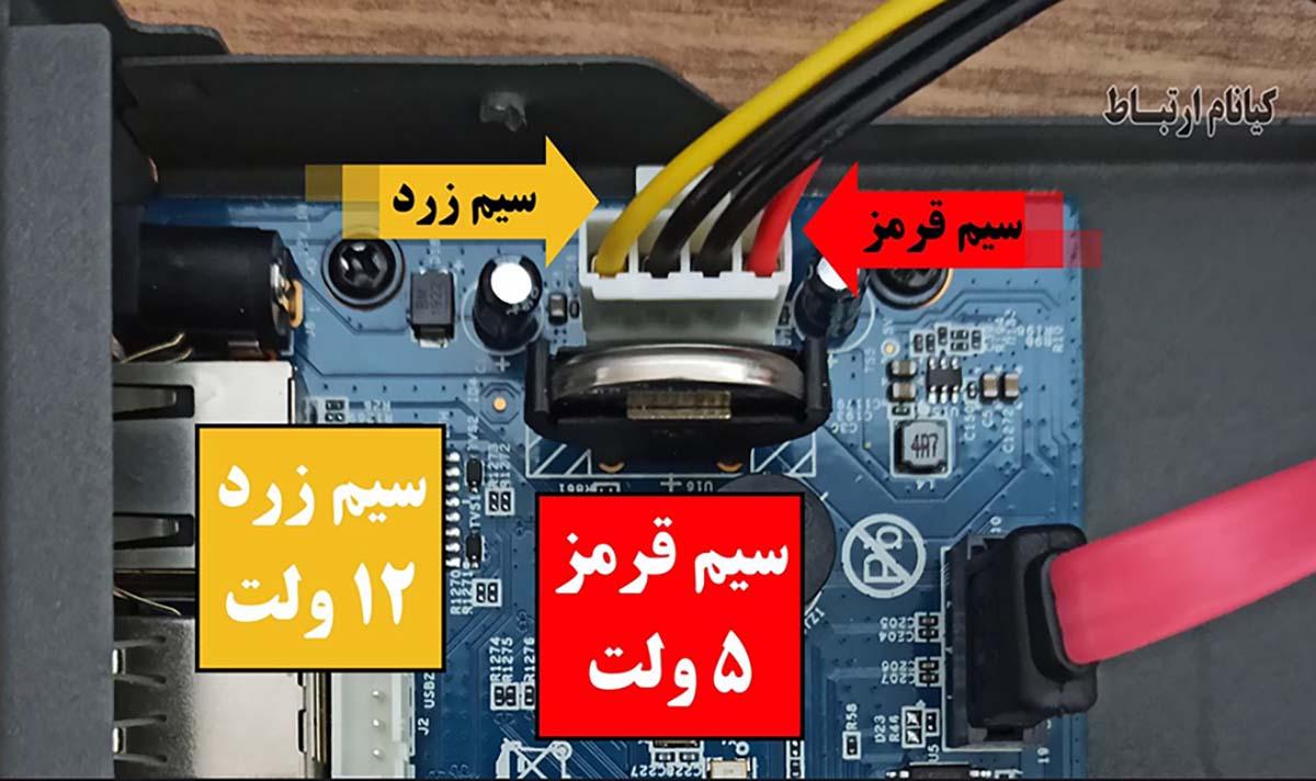 ولتاژ برق main board دستگاه DVR